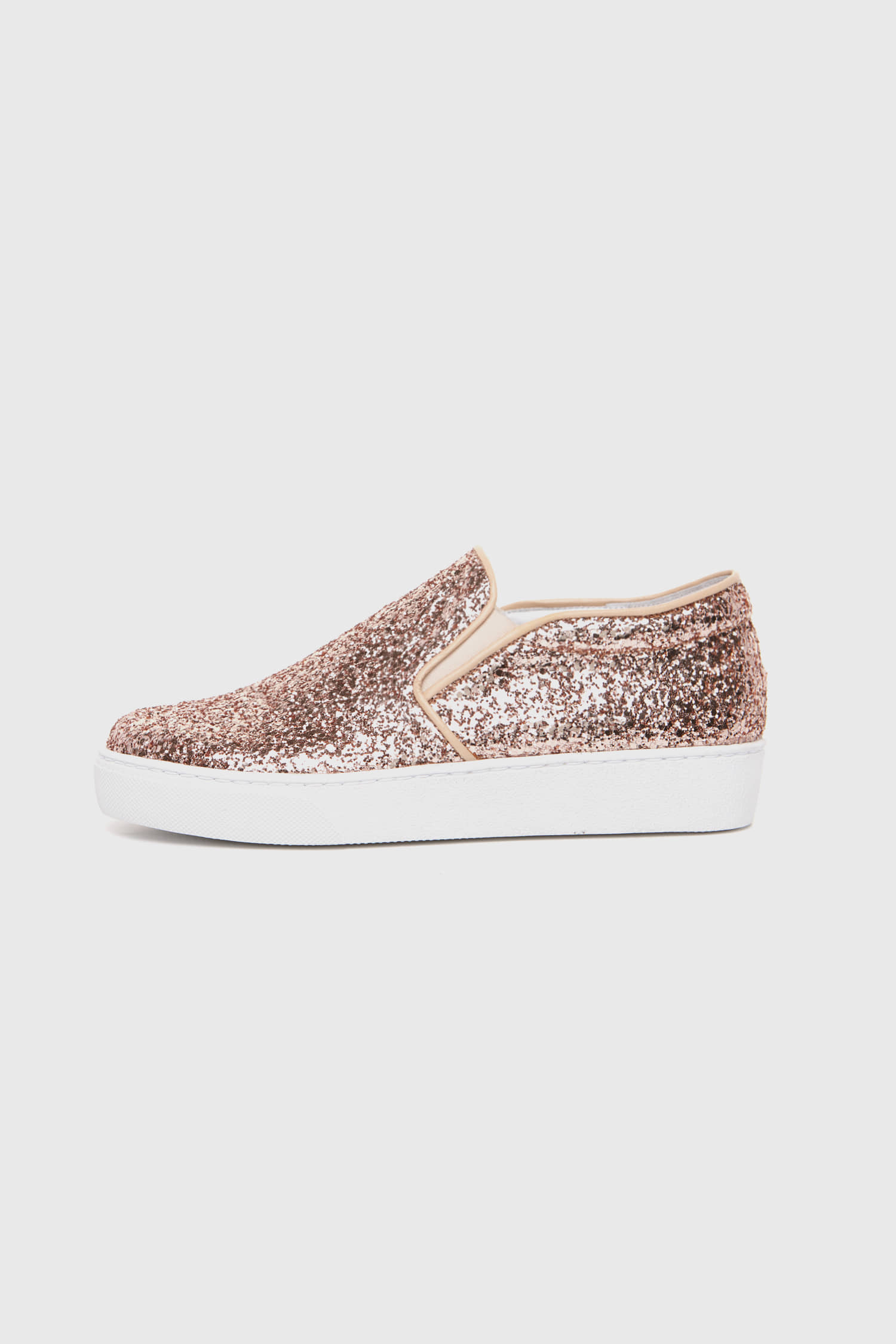 SHINING SLIP-ON ROSEGOLD