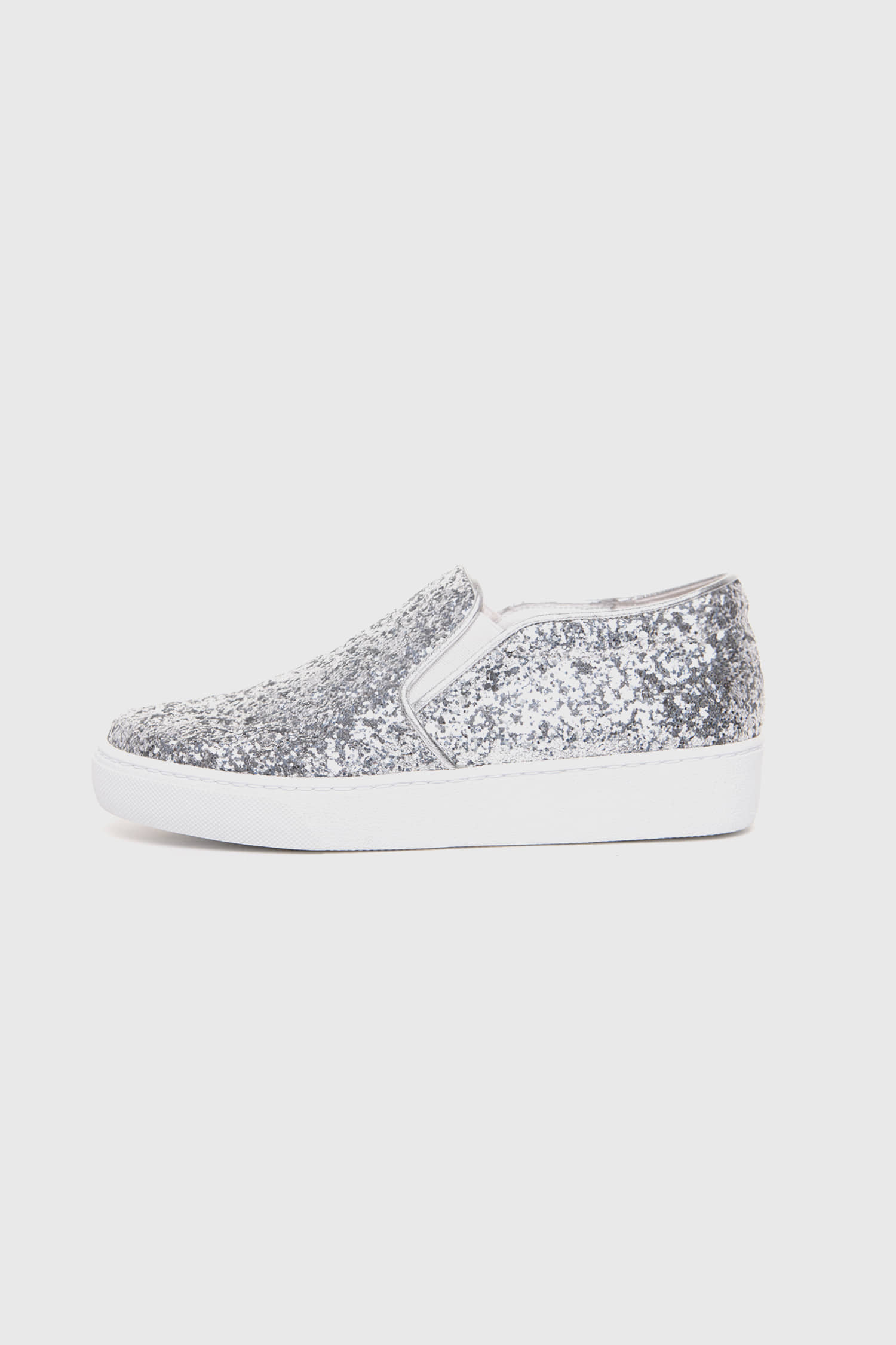 SHINING SLIP-ON SILVER